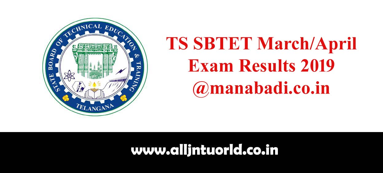 TS SBTET March/April Exam Results (Released) 2019 @manabadi