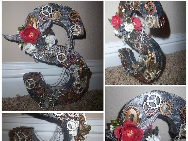 """Steampunk Altered Letter """"S"""""""