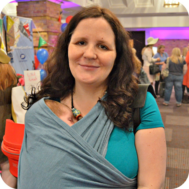 Babywearing with Little E at Britmums Live
