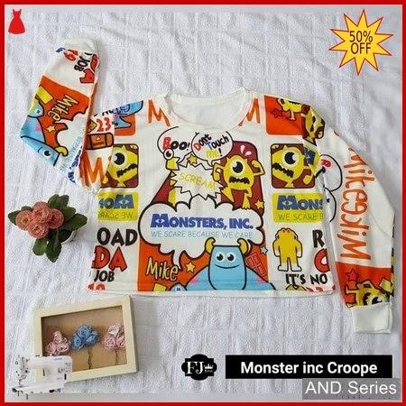 AND316 Baju Atasan Wanita Kaos Moster Inc BMGShop