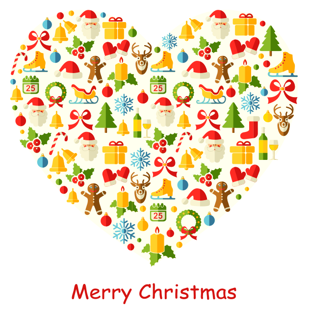 Christmas Heart.Merry Christmas Heart Symbols Emoticons