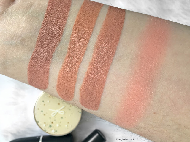 MAC Lipstick Swatches Peachstock Honeylove