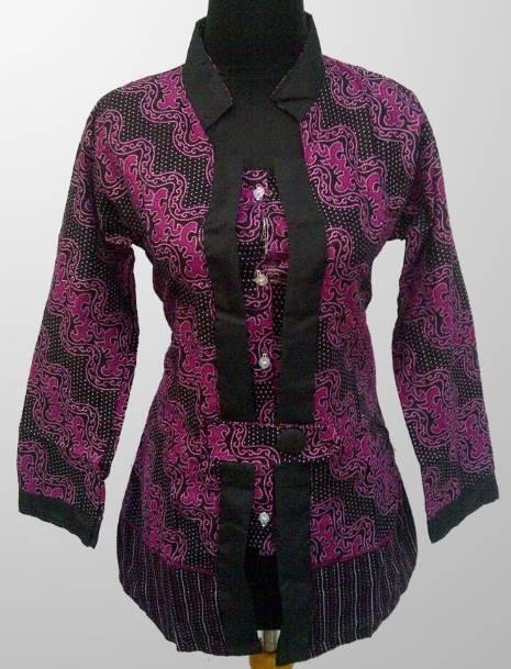 10 Model Baju Batik Kerja Untuk Wanita Gemuk Terbaru 3
