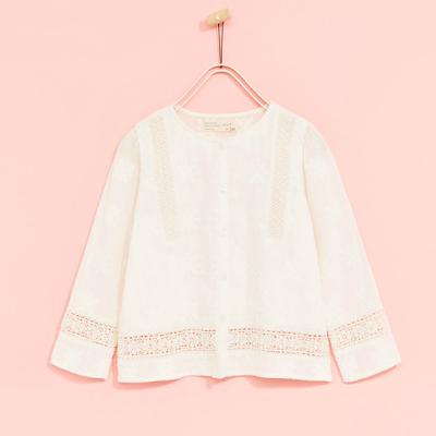 zara blusa blanca boho niña - mis compras en las rebajas