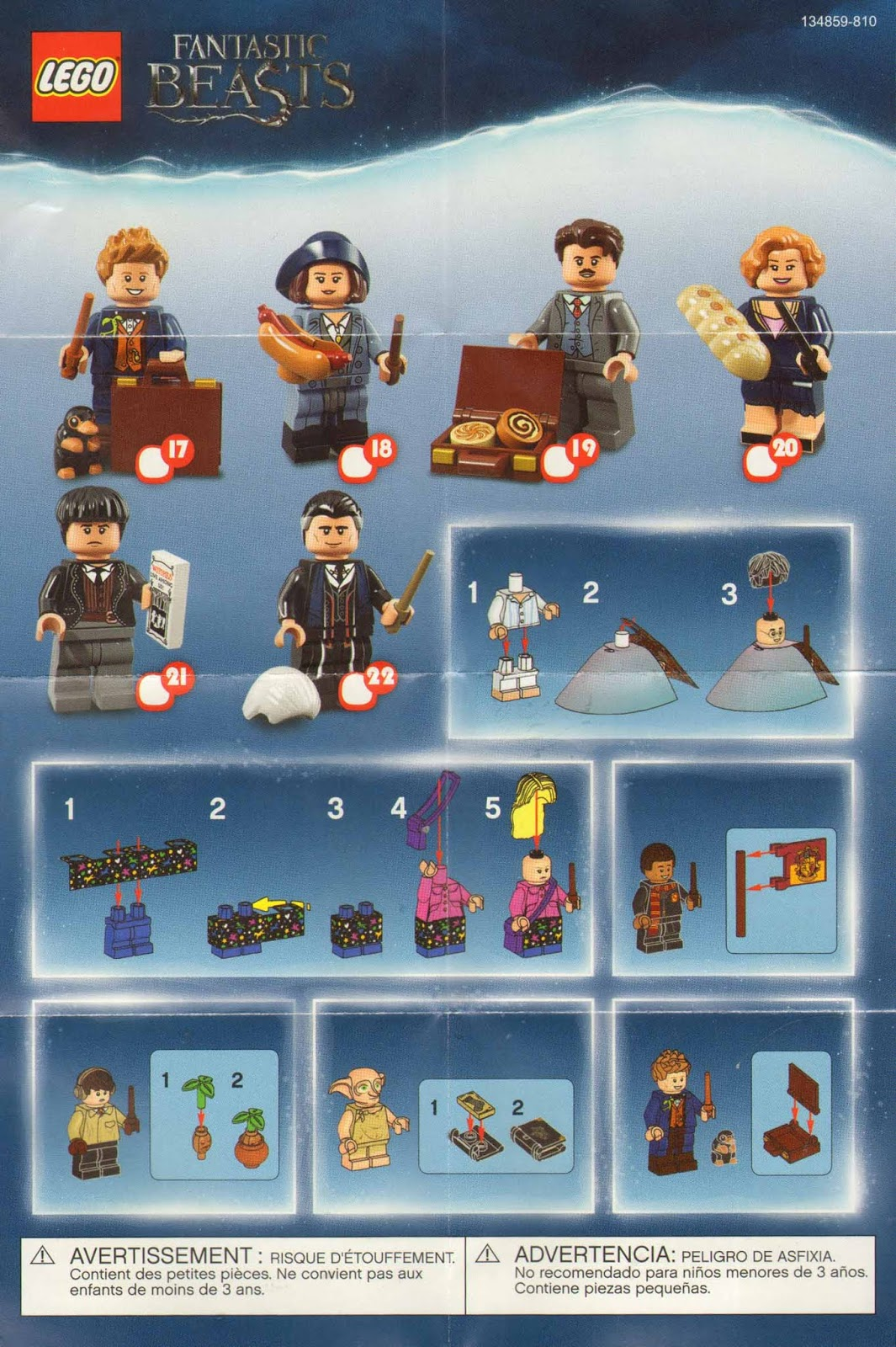 Inc Rare Lego Minifigures Harry Potter//Fantastic Beasts Figures Collection