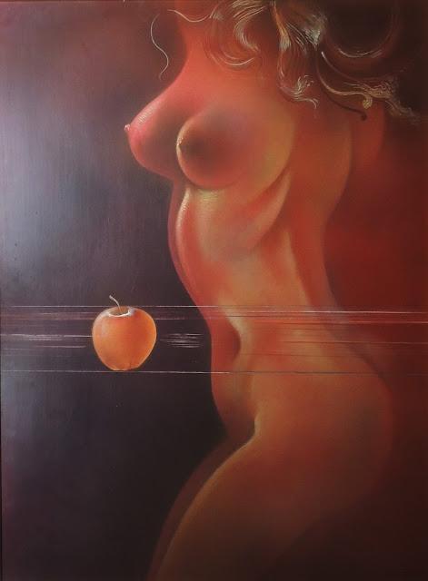 Dibujo desnudo pintor catalán modernista Joan Rifà