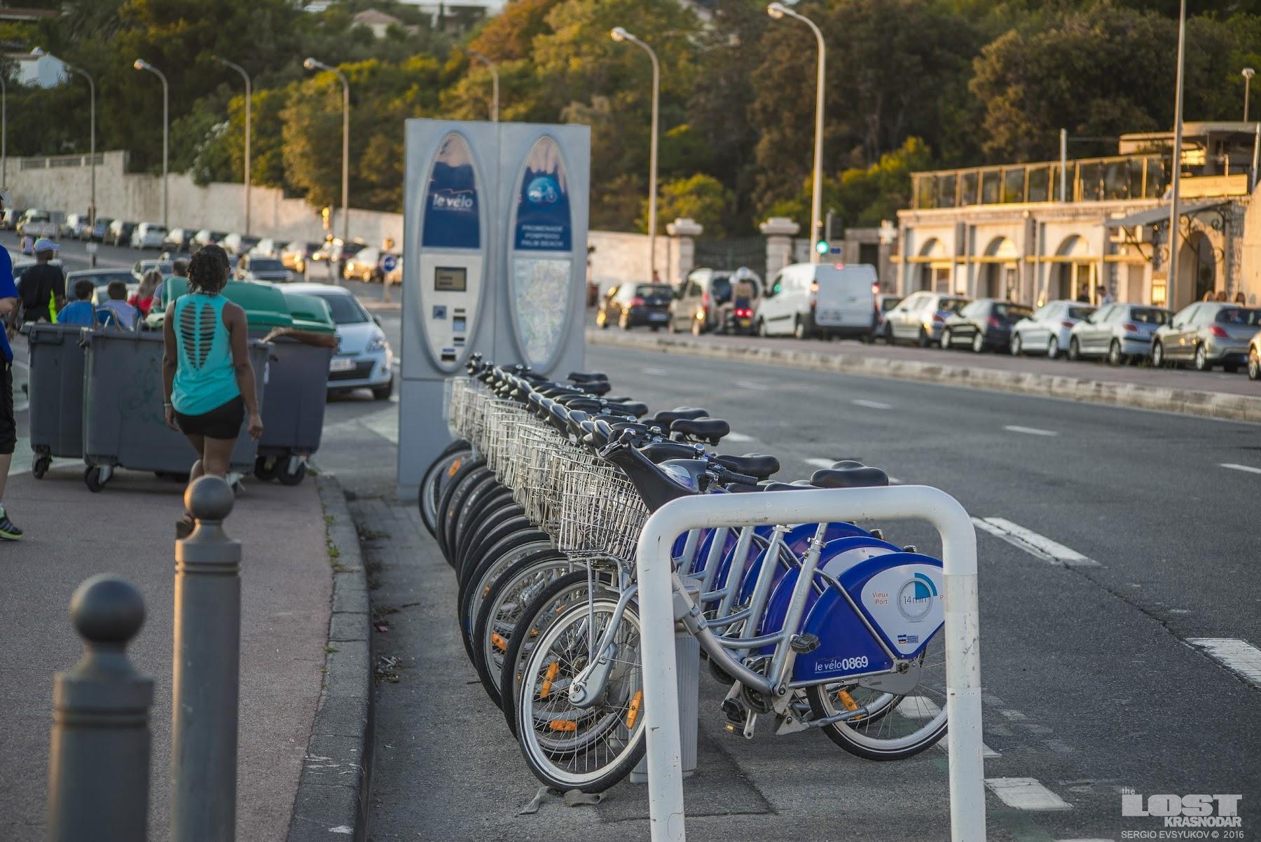 Велосипеды на Лазурном побережье