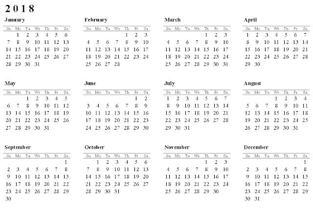printable calendar 2018, 2018 Calendar Templates
