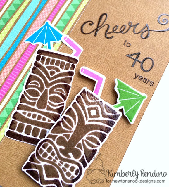 tiki | tropical drinks | birthday card | handmade card | stamping | cardmaking | papercraft | paper crafts | doodlebug | fun in the sun | kimpletekreativity.blogspot.com | newton's nook designs