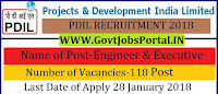 Projects Development India Limited Recruitment 2018 – 118 Engineer & Executive