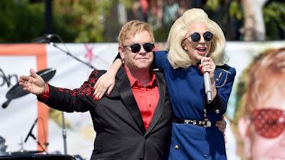 Elton John Duets with Lady Gaga