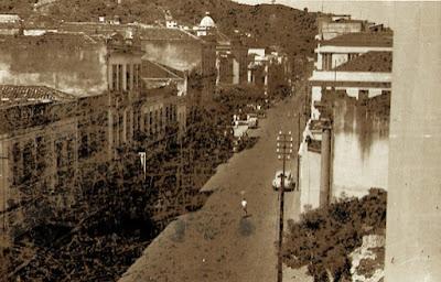 Rua Jerônimo Monteiro, com vista do Hotel Tabajara. Vitória, ES, fevereiro de 1950.