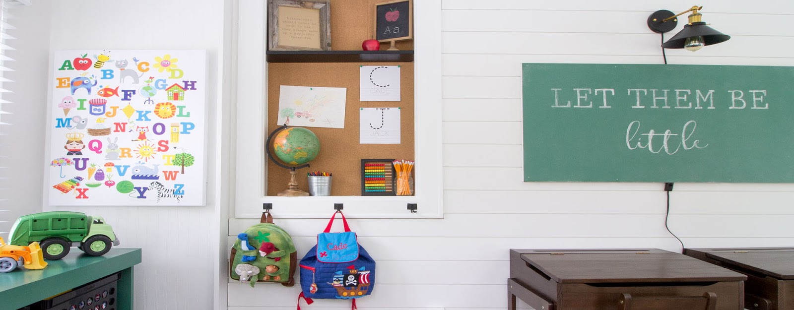 Modern Vintage Schoolhouse Playroom Reveal | The Inspired Hive