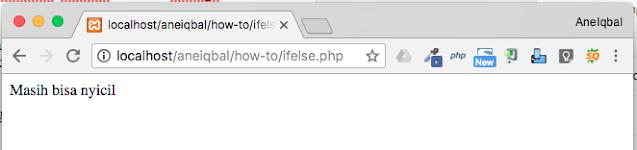 contoh program php menggunakan if else