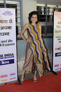 Actress Tapsee Panu Stills at Remonetise India Campaign in Chetna College Bandra West  0028.jpg
