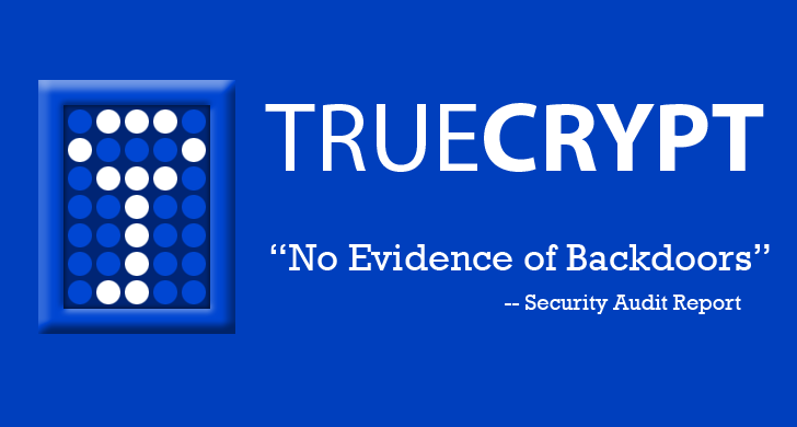 TrueCrypt Security Audit Concludes No NSA Backdoor
