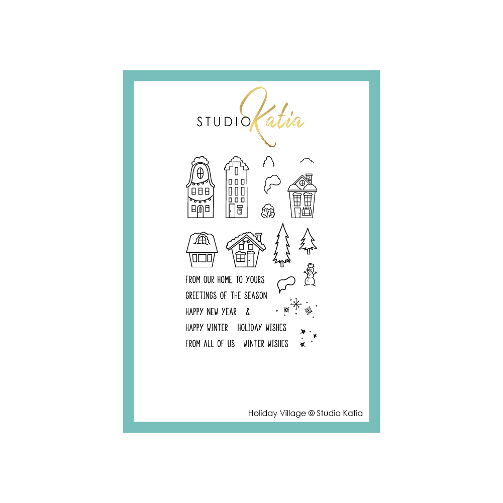 Holiday Village Stamps