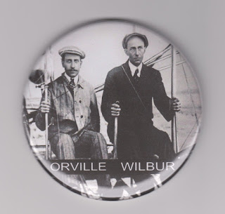 Refrigerator magnet incorrectly identifying Paul Zens as Orville Wright.