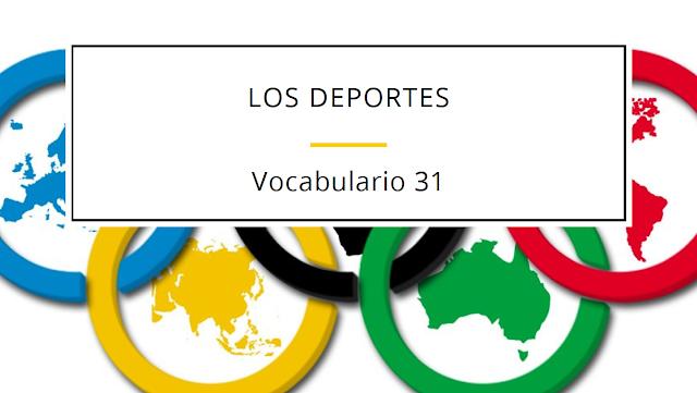 LOS DEPORTES - VOCABULARIO NIVEL A2