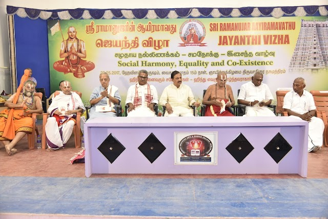 Social Harmony, Equality and Co-existence at Ramanujar 1000th celebrations