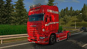 Red Lady skin for Scania RJL
