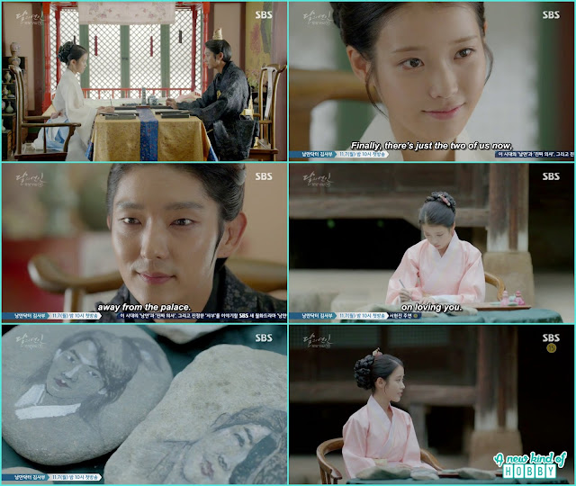 hae soo draw king wang soo face on the stone - Moon Lovers Scarlet Heart Ryeo - Episode 20 Finale (Eng Sub)