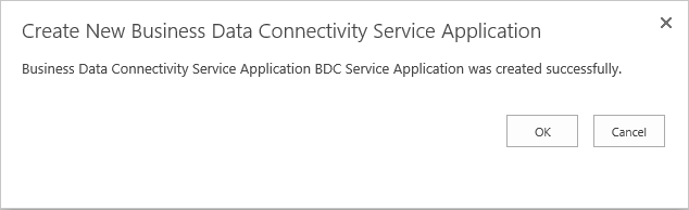sharepoint business data connectivity service application