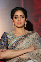 Sri Devi in designer saree stunning beauty at the launch of MOM movie Trailer~  Exclusive 079.JPG