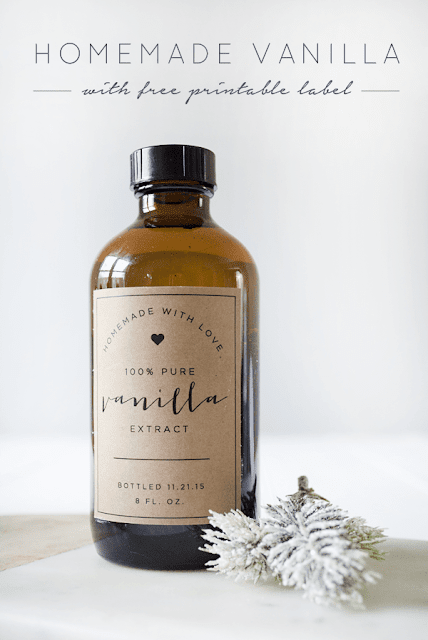 Homemade vanilla with printable label