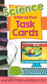 Science Interactive Digital Task Cards for grades K-5