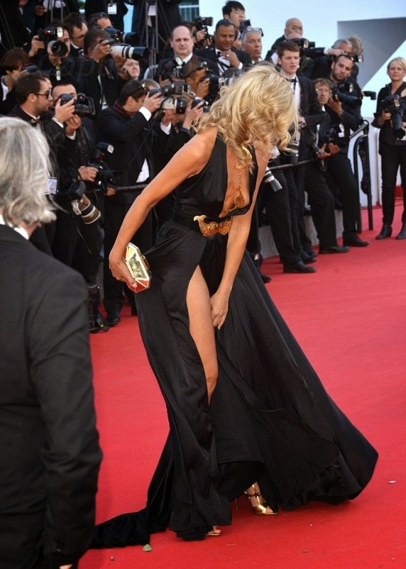 Socialite Model Lady Victoria Hervey On Red Carpet At  Cannes Film Festival
