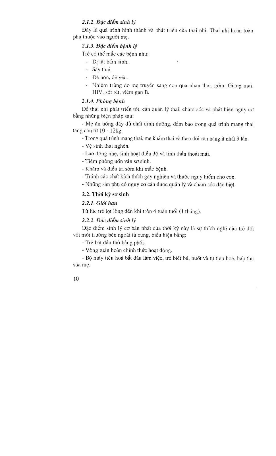 Trang 10 sach Giáo trình điều dưỡng Nhi khoa - NXB Hà Nội 2005