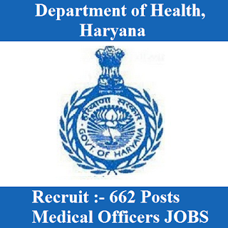Department of Health, Haryana, Medical Officer, Graduation, freejobalert, Sarkari Naukri, Latest Jobs, haryana health logo