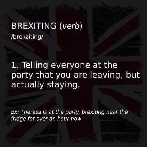 Funny Brexiting Definition Picture