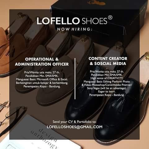 Loker Lofello Shoes Bandung