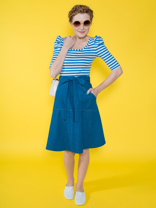Miette skirt - easy sewing pattern for beginners