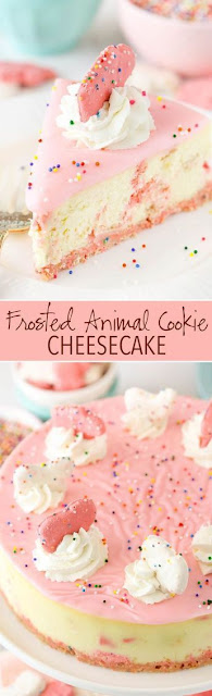 Frosted Animal Cookie Cheesecake