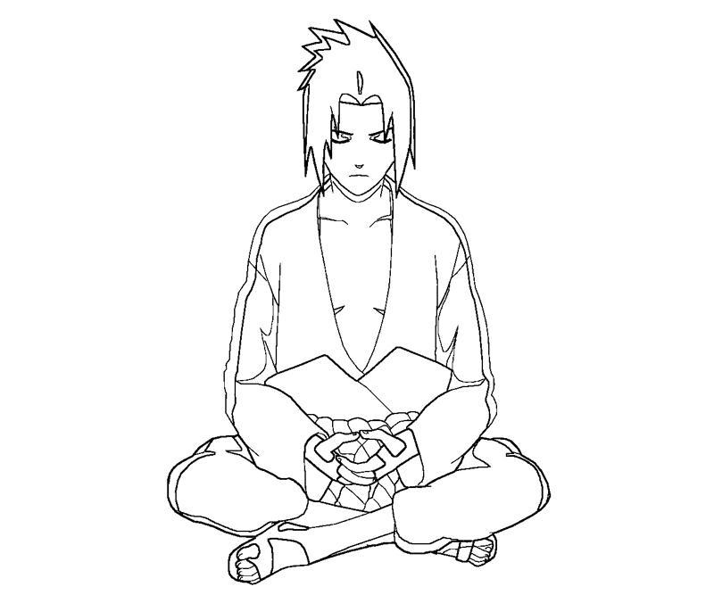 sasuke uchiha coloring pages - photo#45