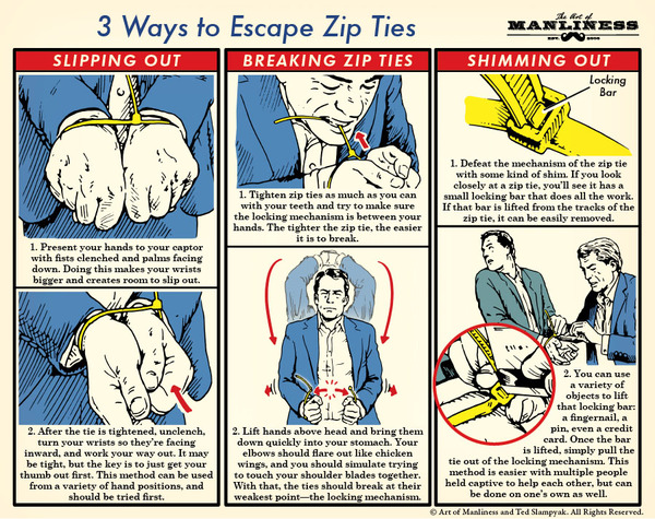 escape zip ties