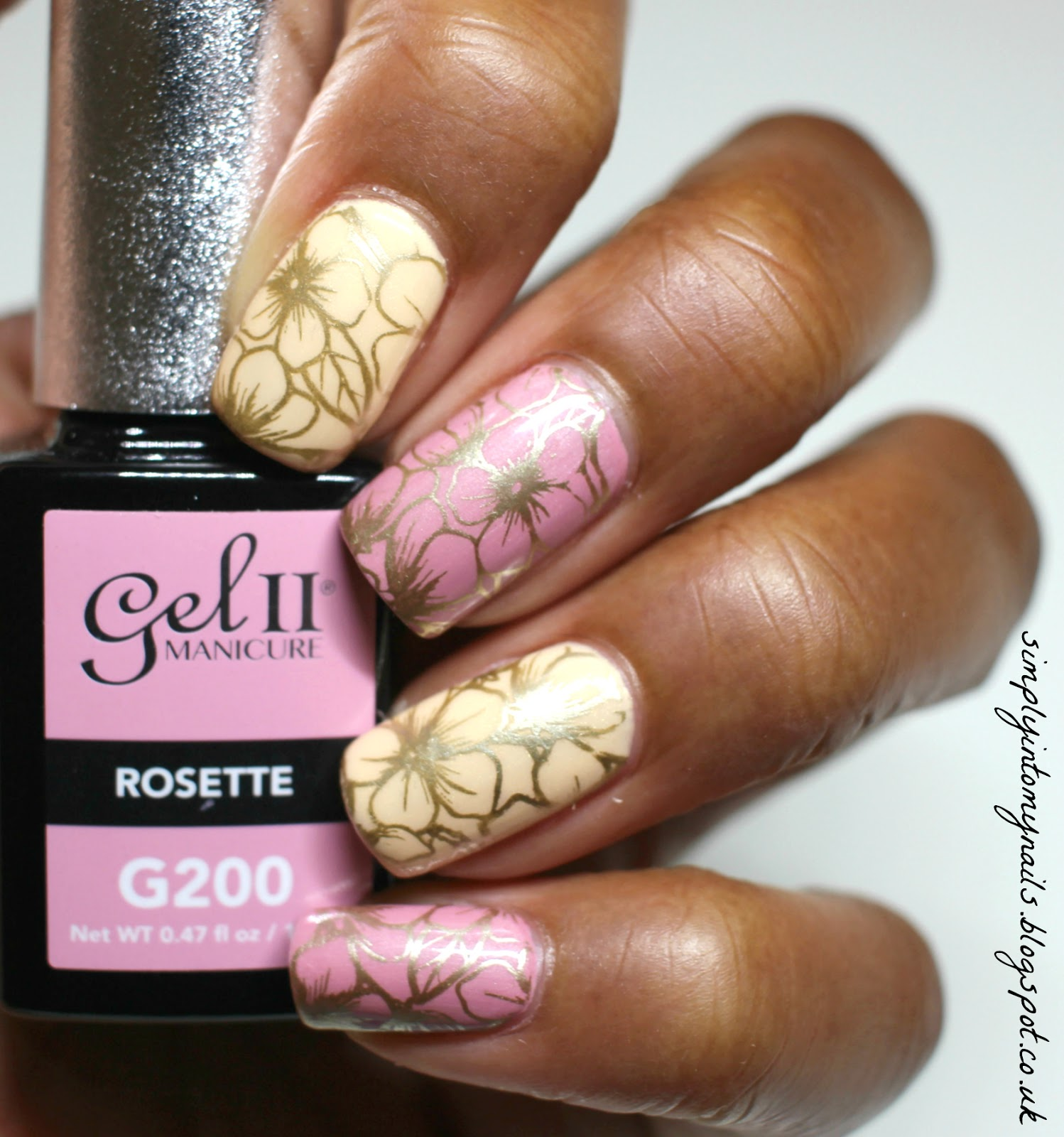 Gel II Daisy & Rosette | Simply Into My NAILS