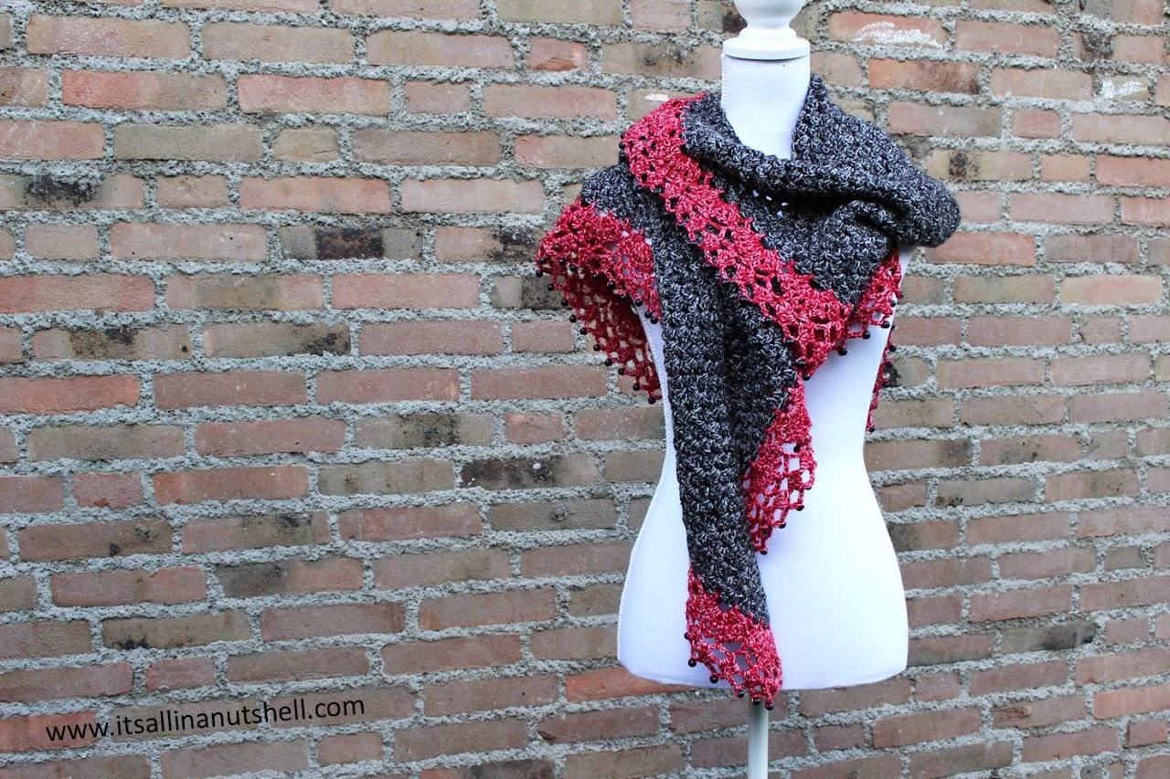 Touch of Velvet Wrap - free crochet pattern by It's All In A Nutshell