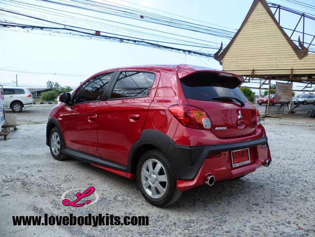 Body Kit Mini Evo - Mitsubishi Mirage - tampak samping belakang