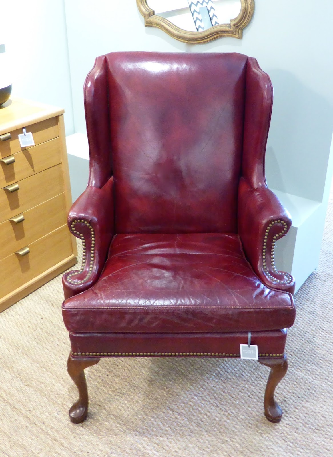 MICHAEL THOMAS  Hickory Chair Company Leather Wingback