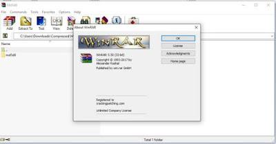 Screenshot WinRAR 5.50 Full Version