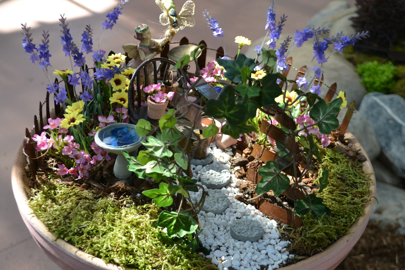 Enchanted Garden: It's All About Purple: Enchanted Miniature Gardens