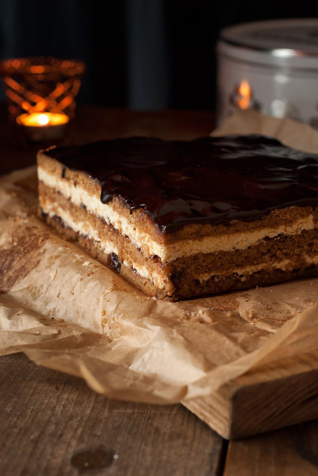 Ciasto królewskie z masą grysikową