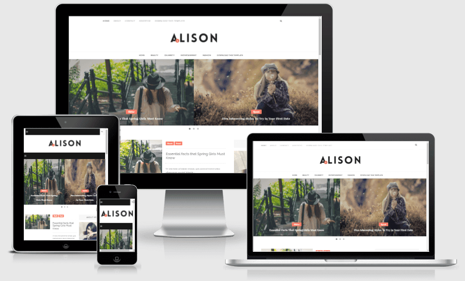 Alison - Responsive Minimal Blogger Template