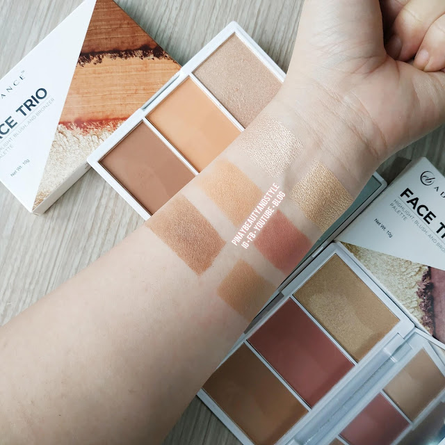 Ever Bilena Fig Trio Swatches and Review from Face Trio Collection - Better than the EB Advance Blush Duo?