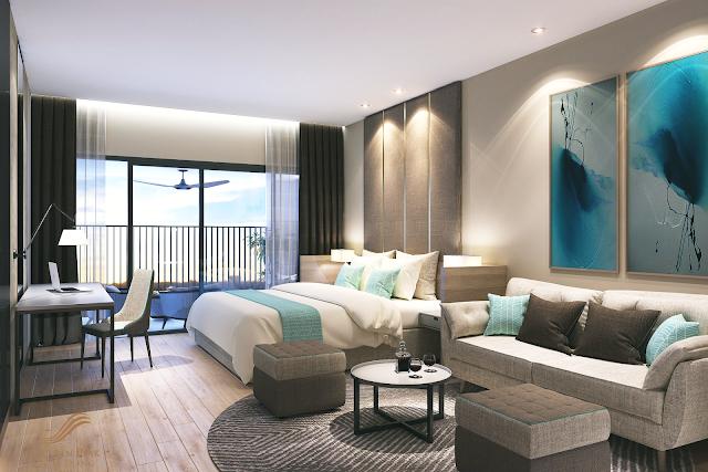 phòng ngủ căn hộ dự án Golden peak
