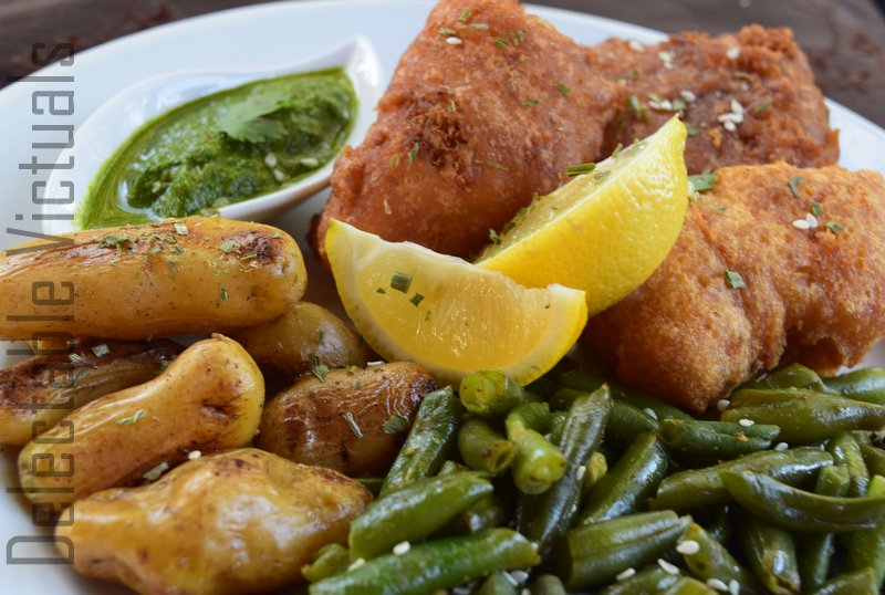 Batter-fried Rockfish with Home-grown Potatoes